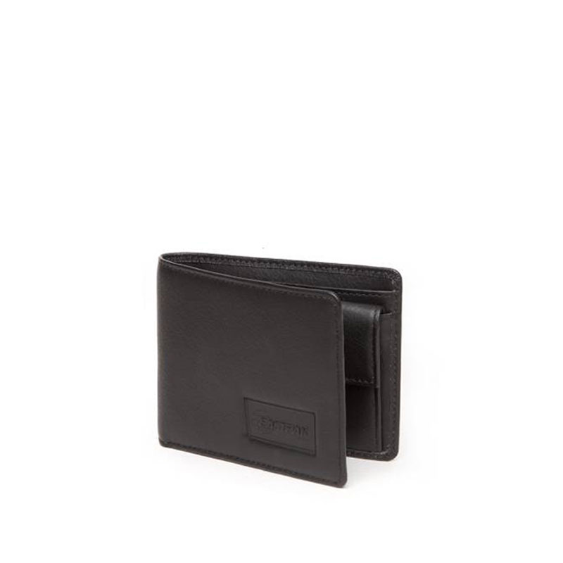 EASTPAK Drew RFID Leather Wallet - Black Ink