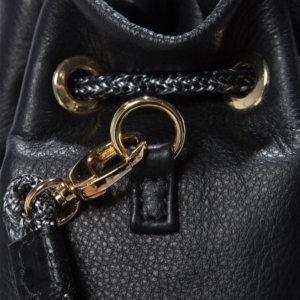 Mini Drawstring Leather Bag
