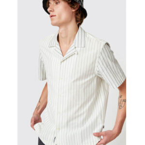 WOOD WOOD Brandon Shirt - Off White Stripes