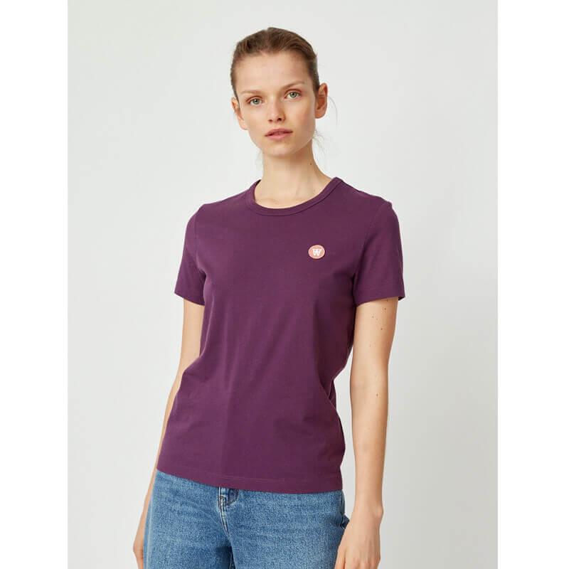 WOOD WOOD Double-A Uma T-shirt - Aubergine