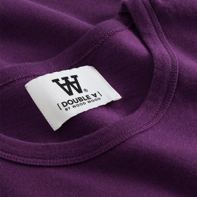 WOOD WOOD Camiseta Uma Double-A - Aubergine