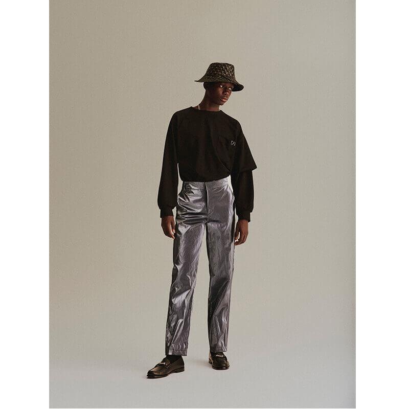 SHOOP Asymmetrical Long Tee - Black