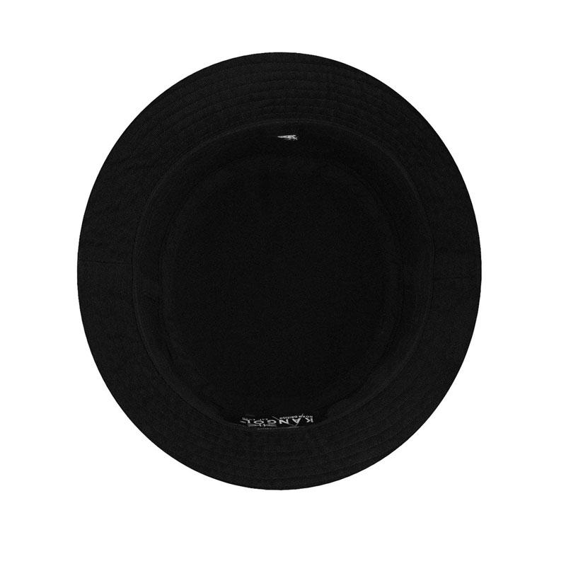 KANGOL Washed Bucket Hat - Black