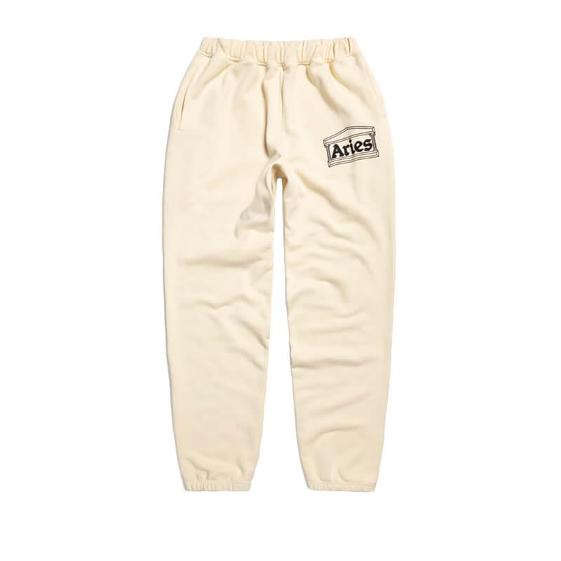 ARIES ARISE Logo Premium Sweat Pants – Alabaster
