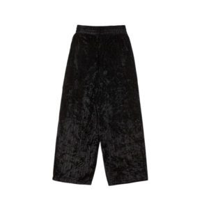 STAND ALONE Pantalones Herringbone Velvet Wide - Black