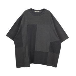 STAND ALONE Camiseta Oversized Panel - Dark Grey