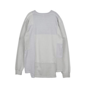 STAND ALONE Camiseta LS Pigment Dye Blocking - Light Grey