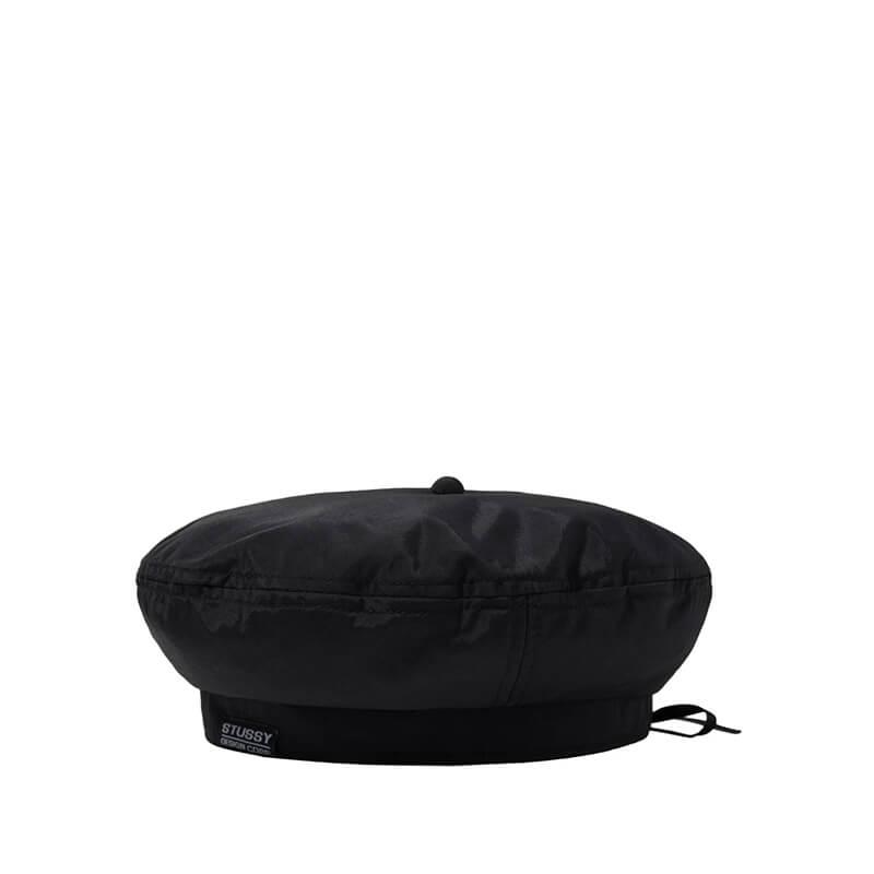 STUSSY Boina Nylon Logo - Black