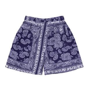 ARIES Bandana Print Board Shorts - Navy