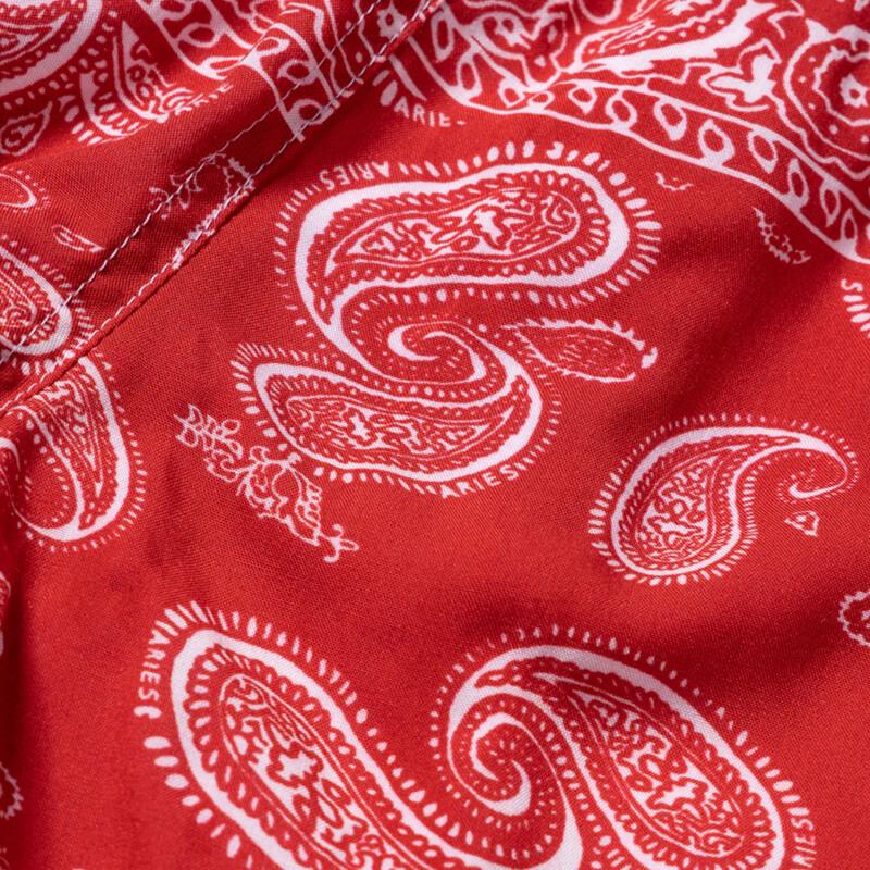 ARIES Bandana Print Board Shorts - Red