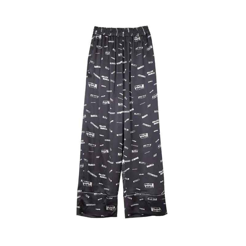 STAND ALONE Pattern Pyjama Pants - Dark Grey