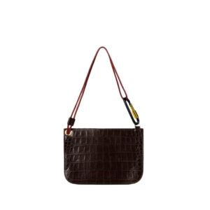 ARIES Bobby Leather Bag - Crocodile