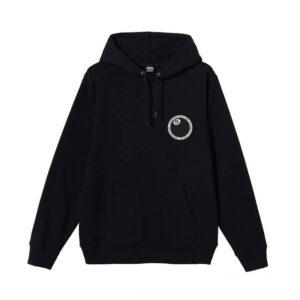 STUSSY 8 Ball Dot Hood – Black