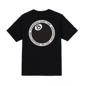 STUSSY 8 Ball Dot Tee – Black