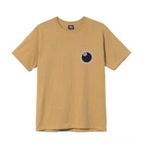 STUSSY 8 Ball Dot Tee – Khaki