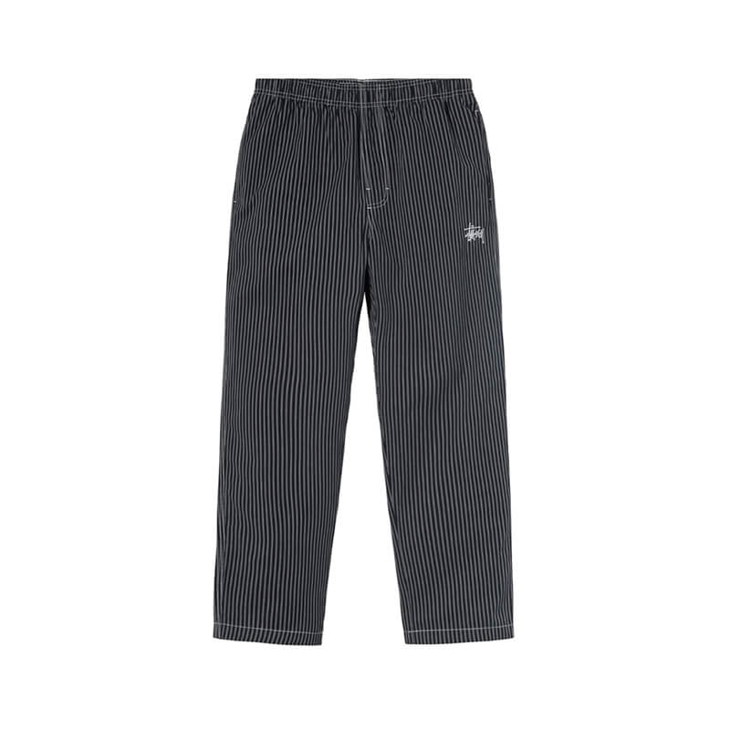STUSSY STUSSY Brushed Cotton Relaxed Pants – Stripe