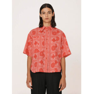 YMC Camisa Eva Lawn Bandana - Red
