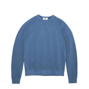 YMC Shrank Cotton Raglan Sweatshirt – Blue