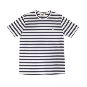YMC Wild Ones Stripe T-Shirt – White / Navy