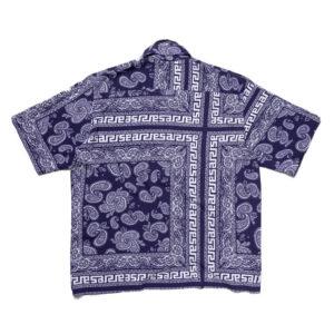 ARIES Camisa Hawaiian Bandana Print - Navy