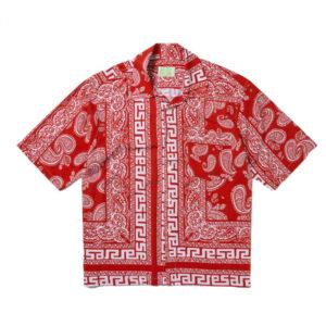 ARIES Camisa Hawaiian Bandana Print - Red