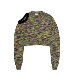 ARIES Shoulder Hole Space Dye Knit - Black