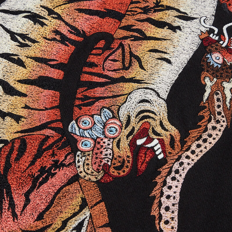 MAHARISHI Heart Of Tigers Crew Sweat - Black