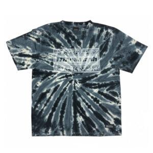 MANASTASH Tie Dye Leaf Logo Tee – Black