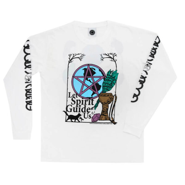 GOOD MORNING TAPES Wiccan Ways LS Tee – White