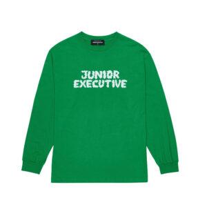 JUNIOR EXECUTIVE Smoke Logo LS Tee – Green