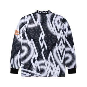 ARIES x UMBRO Camiseta LS Football - Black / White