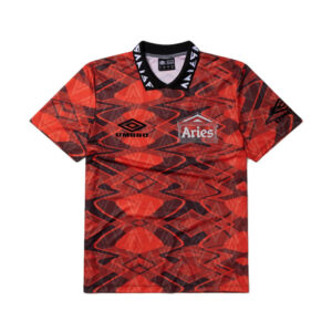 ARIES x UMBRO Football Jersey - Red / Black