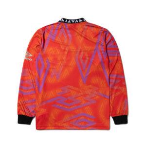 ARIES x UMBRO LS Football Jersey – Red / Purple