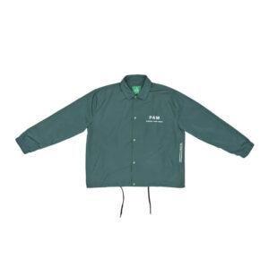 P.A.M. (Perks & Mini) Eye Stack Coach Jacket - Deep Green