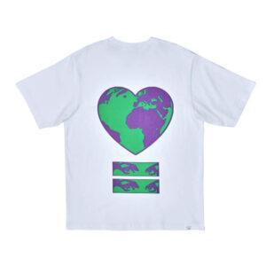 PAM WORLD HEART BEATS TEE WHITE