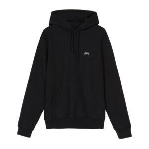 STUSSY Stock Logo Hood – Black