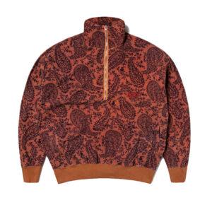 ARIES Sudadera Paisley Reverse Fleece - Coral