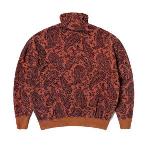 ARIES Paisley Reverse Fleece Half-Zip - Coral