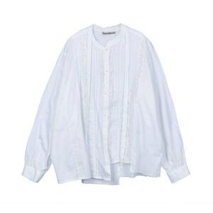 STAND ALONE Blusa Asymmetric Lace Fril - White