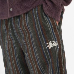 STUSSY WOOL STRIPE RELAXED PANT