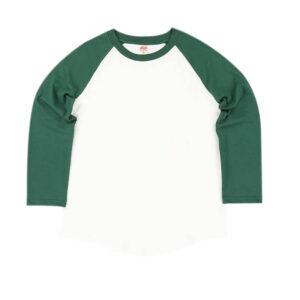 TSPTR Camiseta Base Range Raglan - Forest Green / White