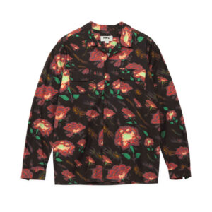 YMC Camisa Feathers Floral - Black