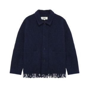 YMC Labour Fringe Chore Jacket - Navy