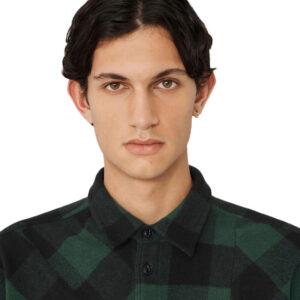 YMC Camisa Mitchum Wool Check - Green