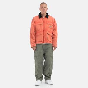 STUSSY_Washed_Canvas_Shop_Jacket_Orange