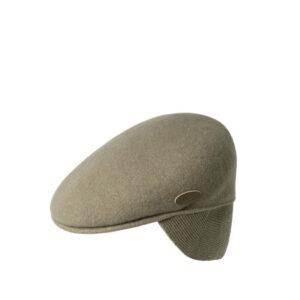 KANGOL 504 WOOL EAR FLAP CAP TAUPE