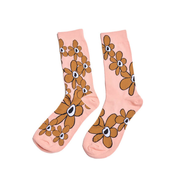 P.A.M. (Perks & Mini) G.L. Gestures Dress Socks - Persimmon